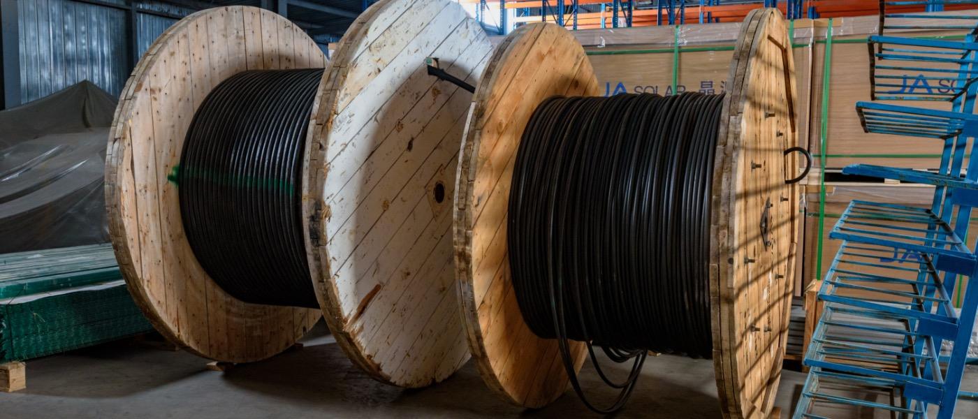 Деревянные барабаны для хранения кабеля